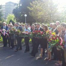 Commémoration de l'assassinat de J. Jaurès à Clermont-Ferrand - dépôt de gerbes - crédits Eric Brun