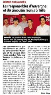 RP 130911 - La Montagne - Conférence des Jeunes secrétaires de section Auvergne Limousin