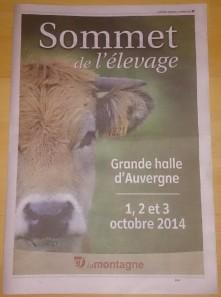 Photo du livret du Sommet de l'Elevage édition 2014 publié par La Montagne - crédits A.C.
