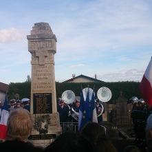 Commémoration du 11 novembre au Monument aux Morts de Romagnat - Crédits A.C.