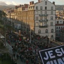 Marche Républicaine rue Montlosier suite aux attentats de Paris - Crédit photo A.C.