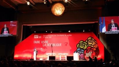 Rassemblement national des secrétaires de section du PS à La Mutualité - Discours de J.C.Cambadélis - Crédit photo A.C.