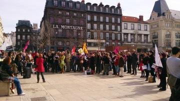 Rassemblement pour la journée internationale des droits des femmes - Crédits photos A.C.