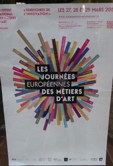 """Affiche """"Les journées européennes des métiers d'art"""" - Crédits photos A.C"""