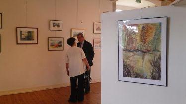 JP Bacquet à l'inauguration d'une exposition au Vernet La Varenne - Crédit photos A.C.