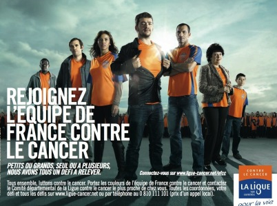 Campagne contre le cancer - crédits Ligue contre le cancer