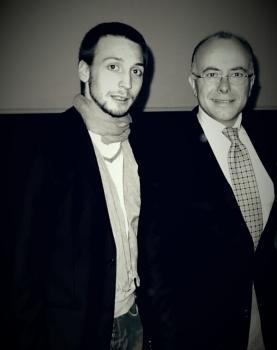 Bernard Cazeneuve et moi en 2012 pour un meeting à Veyre-Monton