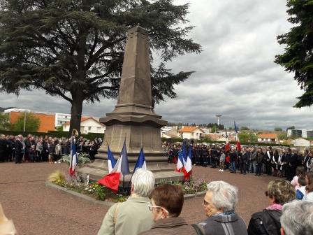 Cérémonie du 8 mai à Aubière